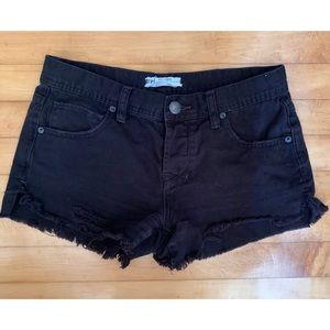 Free People Black Shorts